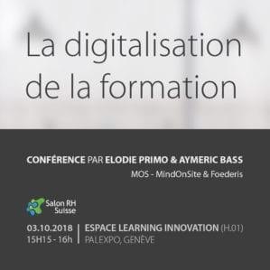 Conférence : La digitalisation de la formation | Salon RH Suisse