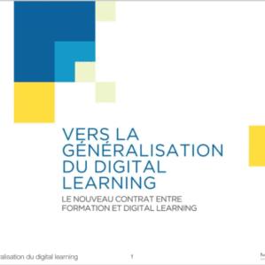 Webinar Féfaur & MOS « Vers la généralisation du Digital Learning »